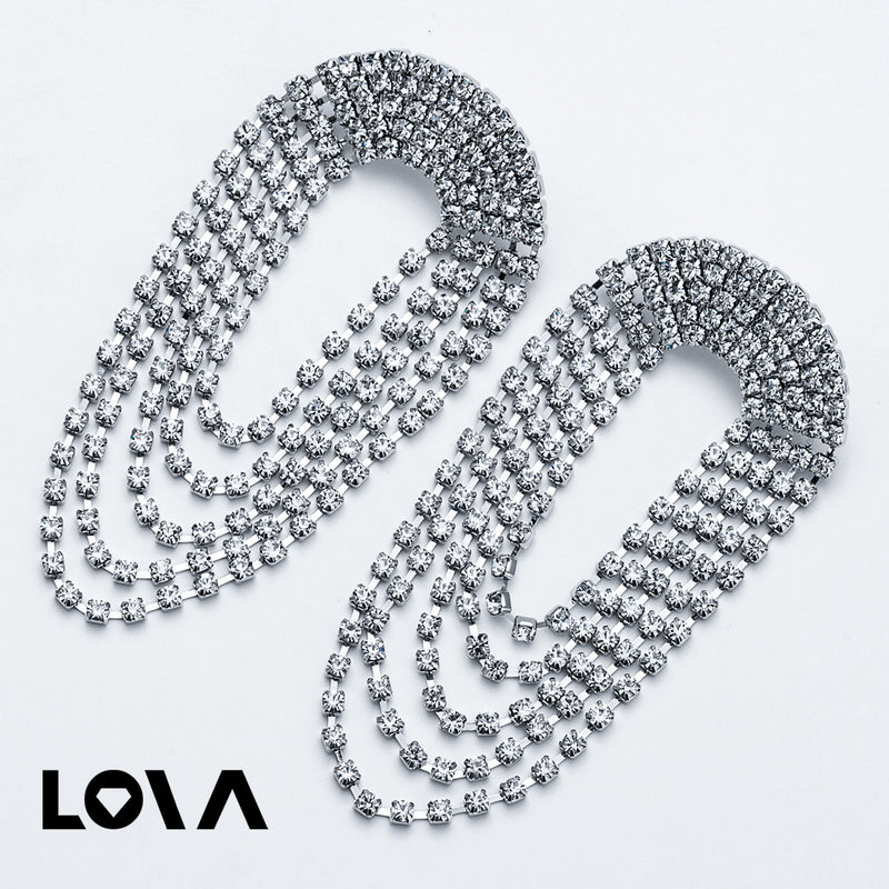 Pomlee Fashion Women Shiny Glass Crystal Drop Earrings - Lova