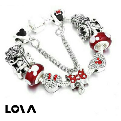 DIY alloy beaded Mickey Bracelet ladies - Lova