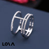 Geometrical Design Ring with Zirconia - Lova