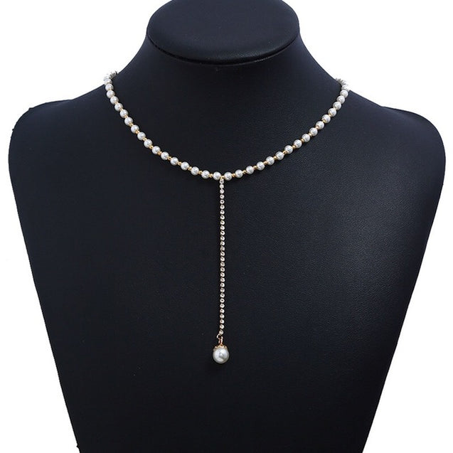 Bridal Party Jewelry Tassel Pearl Necklaces - Lova