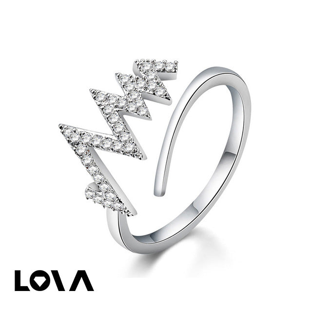 Women Copper Adjustable Engagement Ring- - Lova