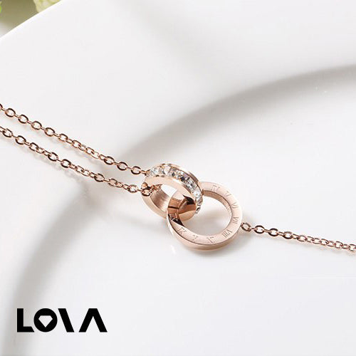Inerlocking Anklet Zirconia Inlay Chain for Woman - LovastyleOfficial