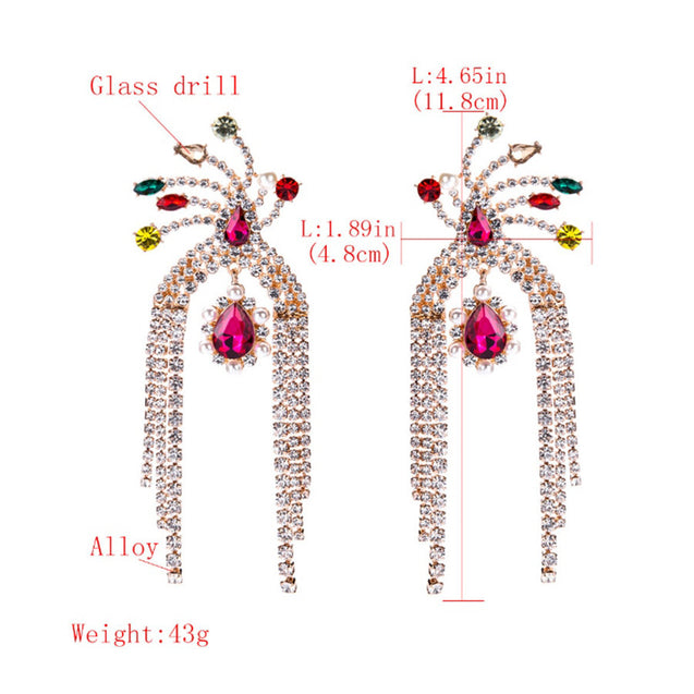 Women's Ear Hoops Rhinestone Decor Color Block Earrings Accessory - LovastyleOfficial