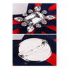 Women's Brooch Bow Knot Design Stripe Rhinestones Decor Sweet Casual Brooch Accessory - Lova