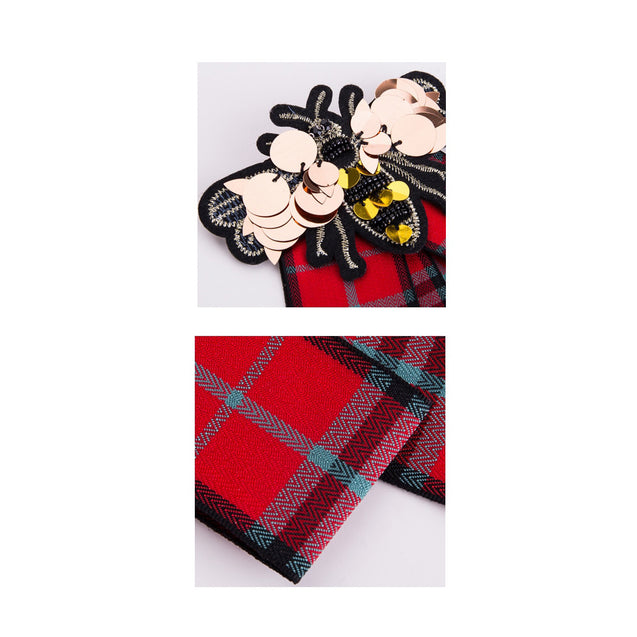 Women's Brooch Modern Design Plaids Pattern Bee Themed Chic Accessory - LovastyleOfficial