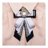 Women's Brooch Bow Knot Design Lace Rhinestones Design Elegant Sweet Brooch - Lova