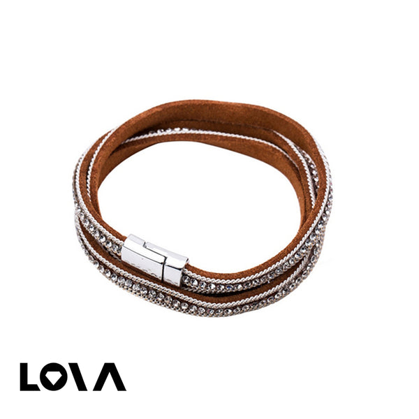 Women's Fashion Bracelet Rhinestone Trendy Stylish Accessory - Lova