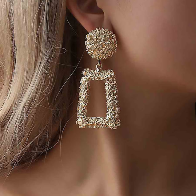 Women's Exaggeration Hoop Creative Party Fashion Drop Earring - Lova