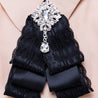 Women's Brooch Stylish Rhinestone Lace Design Bowknot Brooch Fashion Accessory - Lova