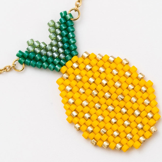 Women's Fashion Necklace Weave Pineapple Design Stylish Accessory - LovastyleOfficial