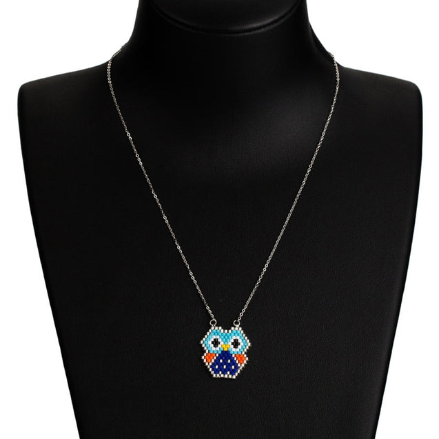 Women's Fashion Necklace Weave Owl Design Delicate Accessory - Lova