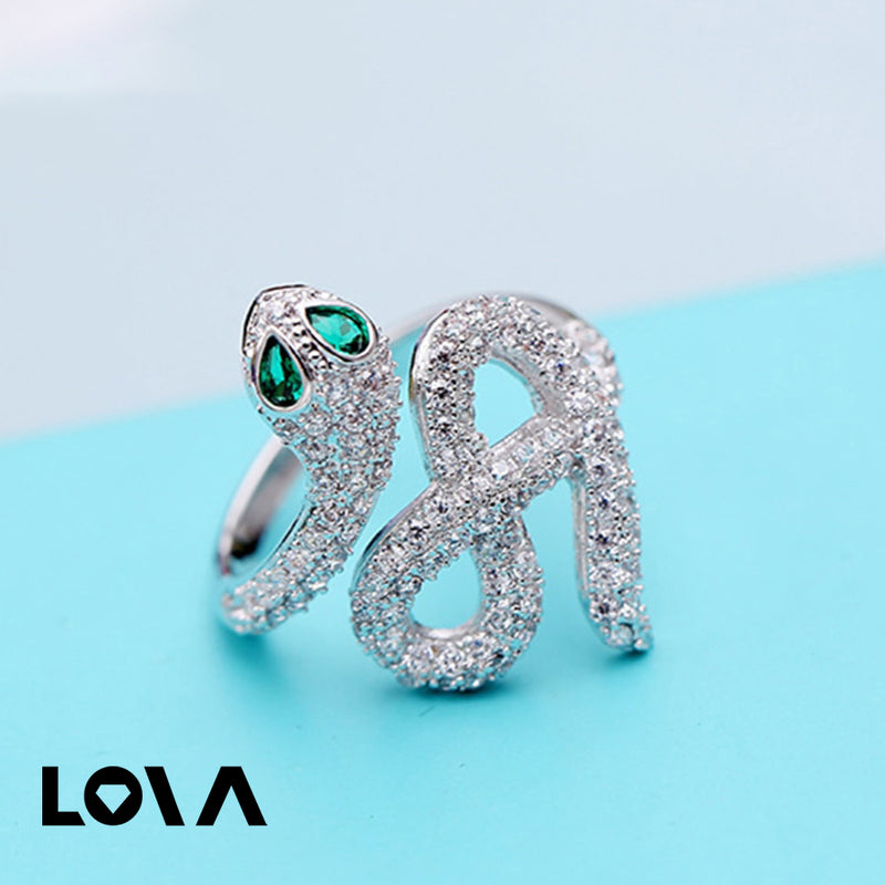 Women's Fashion Stylish Snake Design Decor Ring - Lova