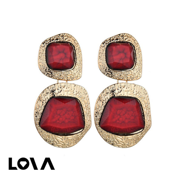 Women's Drop Earrings Exaggerated Geometry Design Stylish Earrings Accessory - Lova