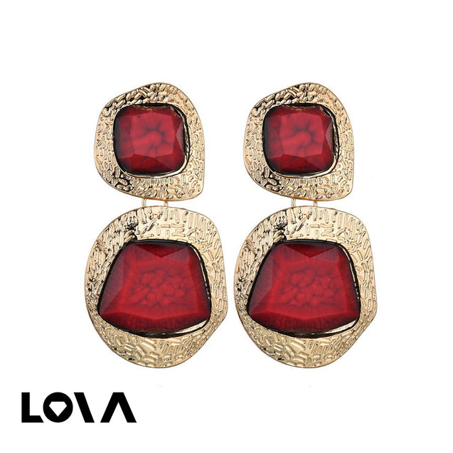 Women's Drop Earrings Exaggerated Geometry Design Stylish Earrings Accessory - LovastyleOfficial
