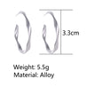 Pair Women's Ear Studs Creative Simple Geometric Warping Retro Earrings Fashion Accessories - LovastyleOfficial