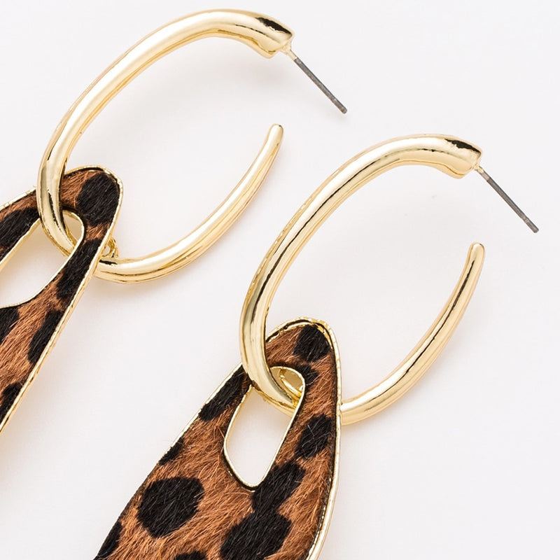Women's Ear Drop Earrings Fancy Leopard Pattern- - Lova