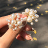 Women's Studs Pearl Decor Firework Design Elegant All Match Accessories - LovastyleOfficial