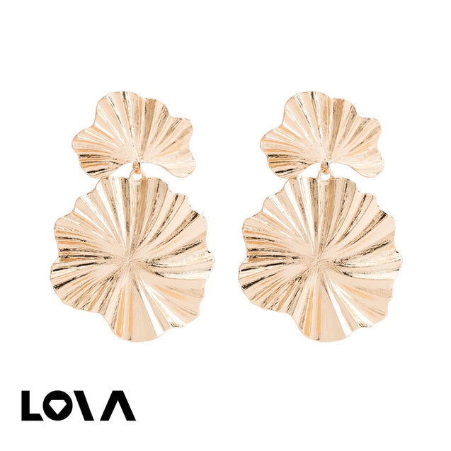 Women's Drop Earrings Elegant Stylish Flower Design - LovastyleOfficial