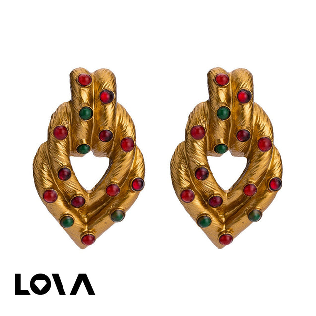 Women's Hoops Hollow Out Design Exaggerated Geometry Accessories - Lova