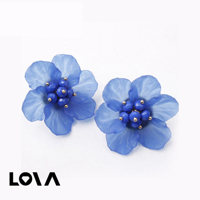 Women's Studs Flower Pattern Elegant Stylish Earrings Accessory - Lova