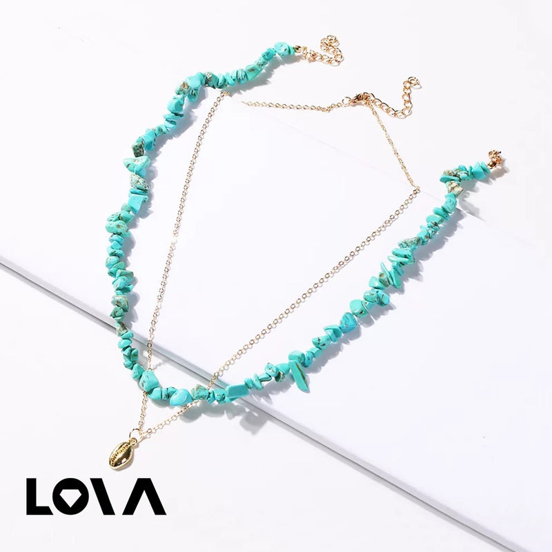 Pcs Women's Fashion Necklace Set Stylish Simple Design Personality Accessory - Lova
