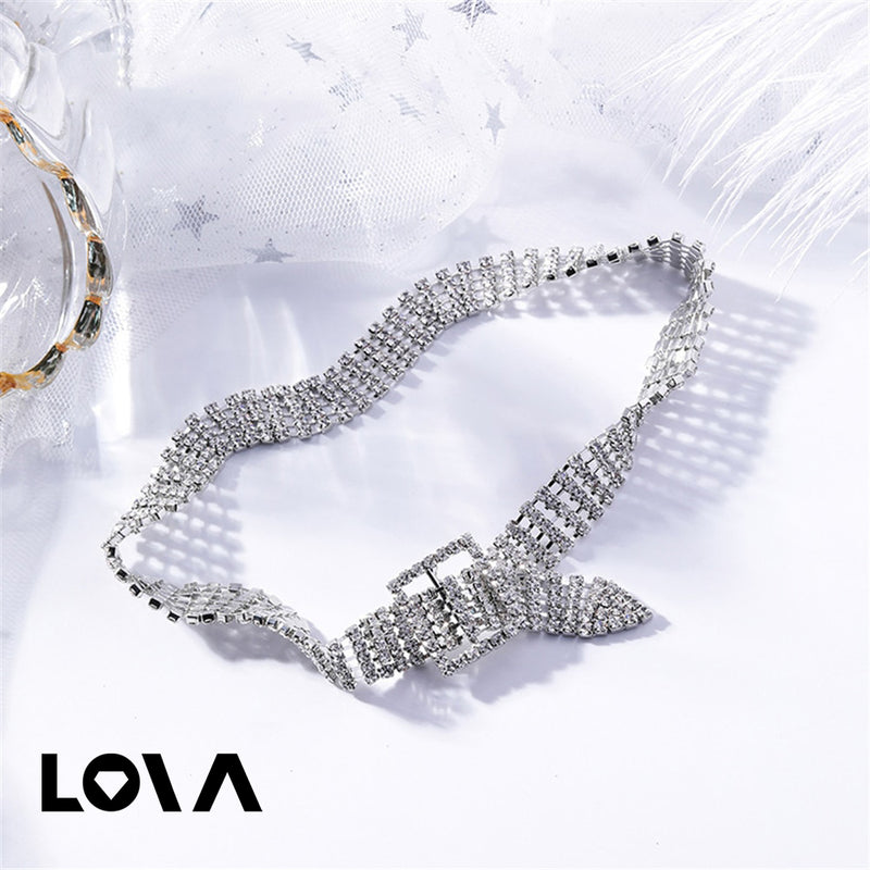 Women's Fashion Necklace Elegant Creative Design Luxury Rhinestone Decor Stylish Accessory - Lova