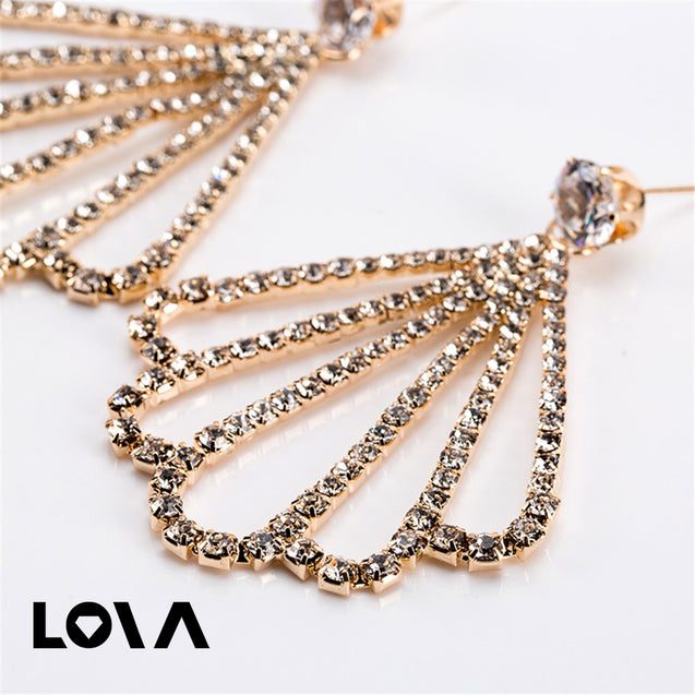 Women's Drop Earrings Stylish Exaggerated Hollow Out Shell Design Accessories - Lova