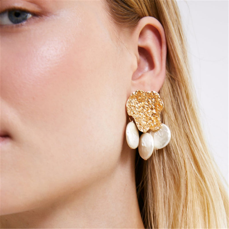 Women's Drop Earrings Stylish Exaggerated Retro Geometry Design Accessories - Lova