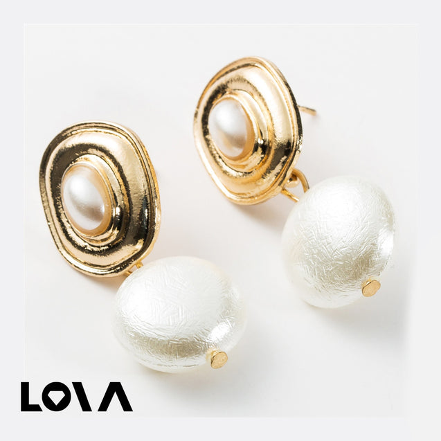 Women's Drop Earrings Geometric Pattern Elegant Earrings Accessory - Lova