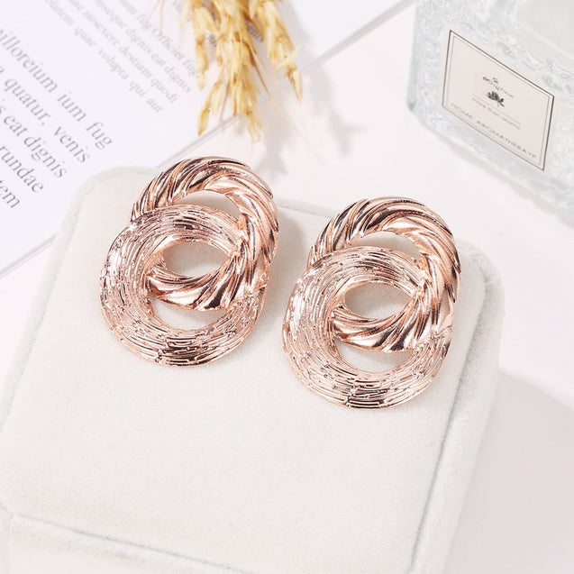 Women's Studs Retro Geometry Design Exaggerated Stylish Accessories - LovastyleOfficial