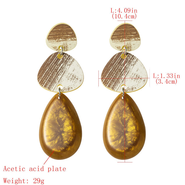 Women's Drop Earrings Multi-Layer Geometry Design Exaggerated Retro Accessories - Lova