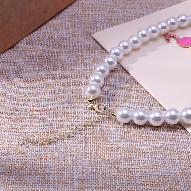 Women's Fashion Necklace Imitation Pearl Necklace Accessory - Lova