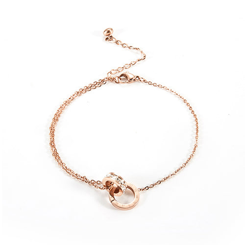 Inerlocking Anklet Zirconia Inlay Chain for Woman - Lova