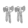Bohemian Rhinestone Bow Butterfly Charms Drop Earrings - Lova