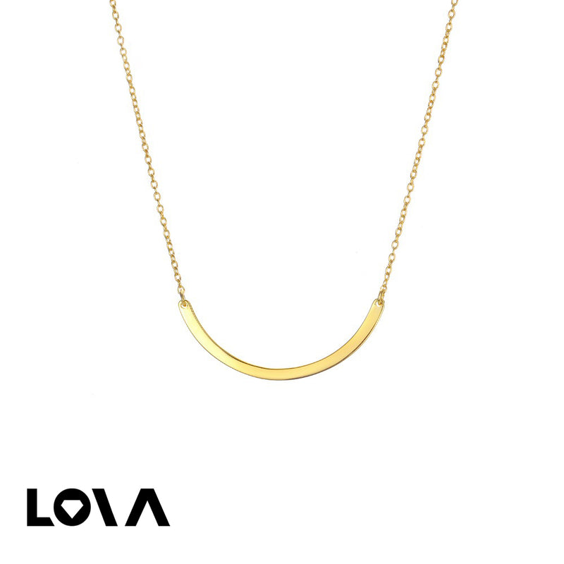 Gold Arc-shaped Pendant Simple Classic Silver Women Jewelry Geometry Necklace - Lova
