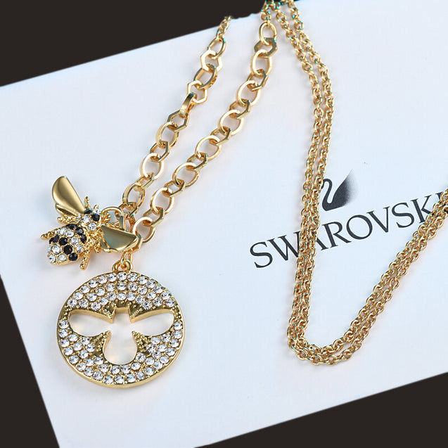 Cute Bee Necklace Clavicle Chain Hundred Matching Female Jewelry - Lova