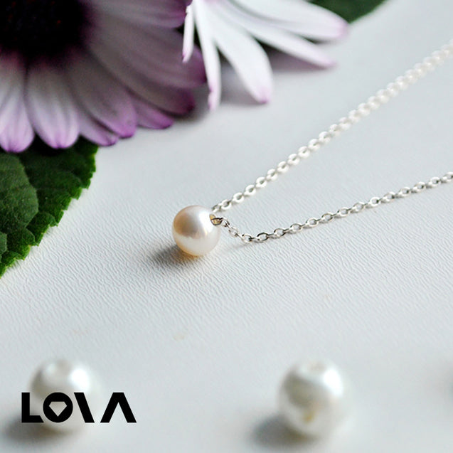 Necklaces Pendants for Women Round Freshwater Pearls Necklace - Lova