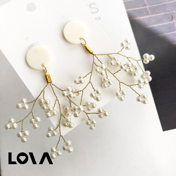 Women's Studs Stylish Solid Color Exaggerated Branch Design All Match Accessories - Lova