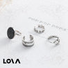 Marble ring 4 piece set personality joint ring open ring - Lova