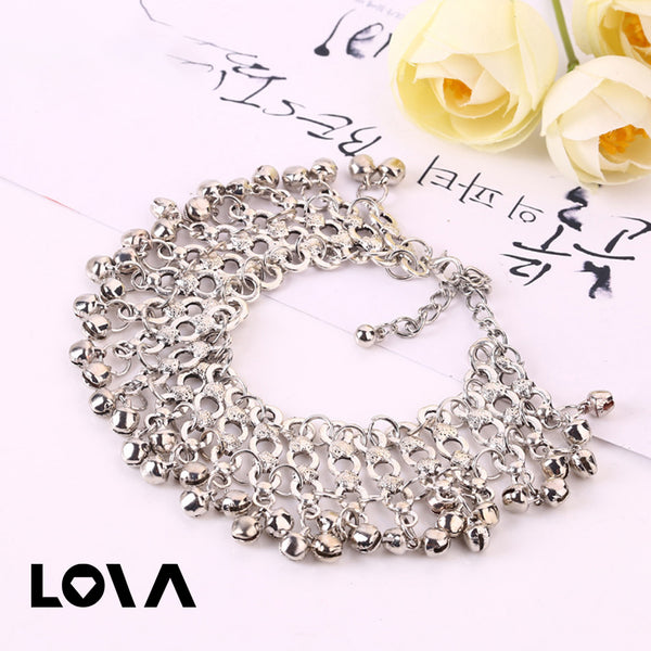 Summer Anklet Multi-Layers Wind Silver Bells Anklet Jewelry Gift Women Foot Chain Anklet Bracelet - Lova
