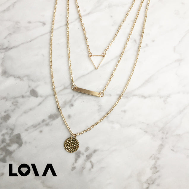 Fashion Alloy Layers Pendants Women's Necklace - Lova
