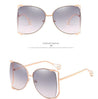 Luxury Cat Eye Half Frame Sunglasses - Lova