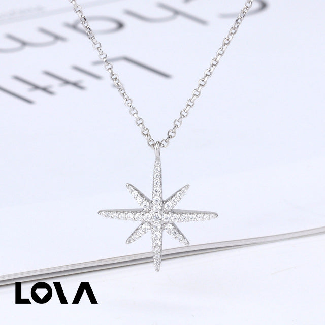silver necklace simple meteor adjustable trend simple long clavicle chain - Lova