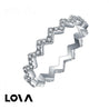 Micropave with Zirconia Stones Up and Down Phalanx Ring - Lova