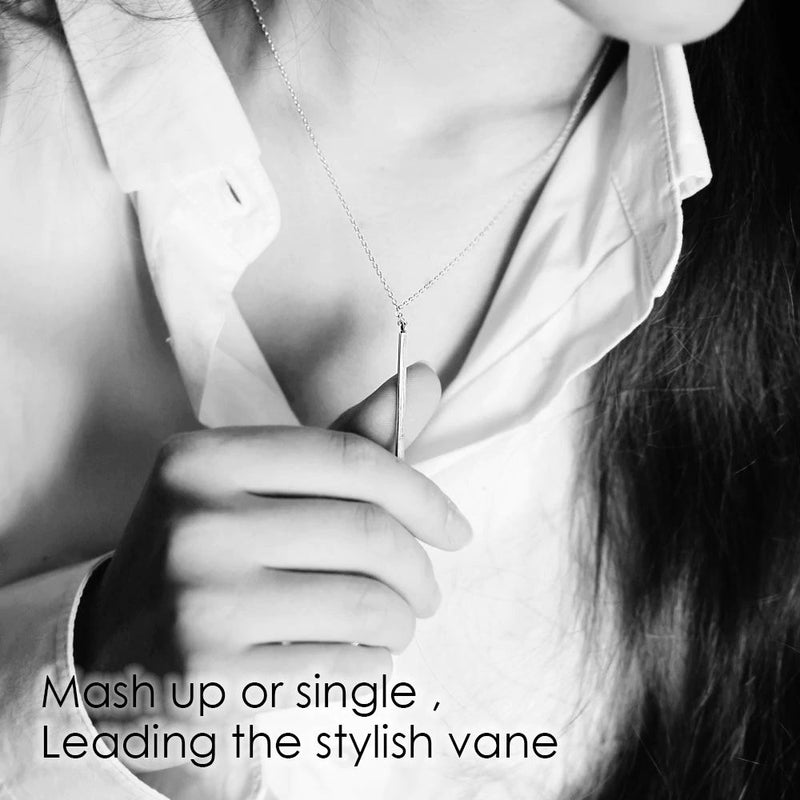 Line Needle Long Pendant Necklace Simple and Romantic Style Jewelry Valentine's Gift - Lova