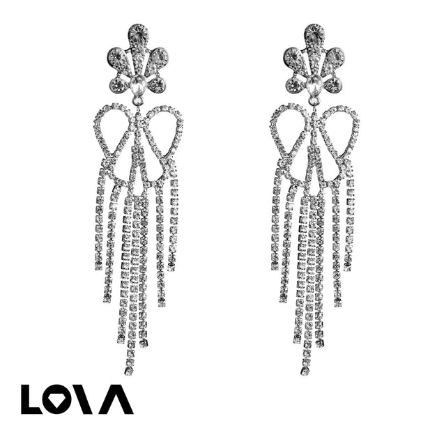 Women's Drop Earrings Hollow Out Design Flower Tassel Retro Accessories - Lova