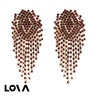 Rhinestone Tassel Earrings Fringed Long Drop Earrings - LovastyleOfficial