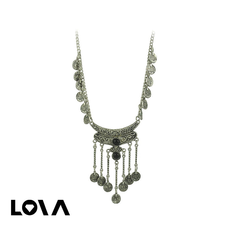 Coin Pendant Retro Delicate Women's Necklace - Lova