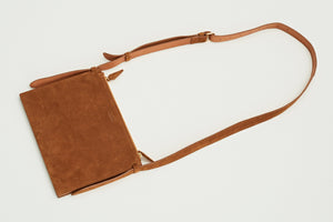 Cognac shoulder bag
