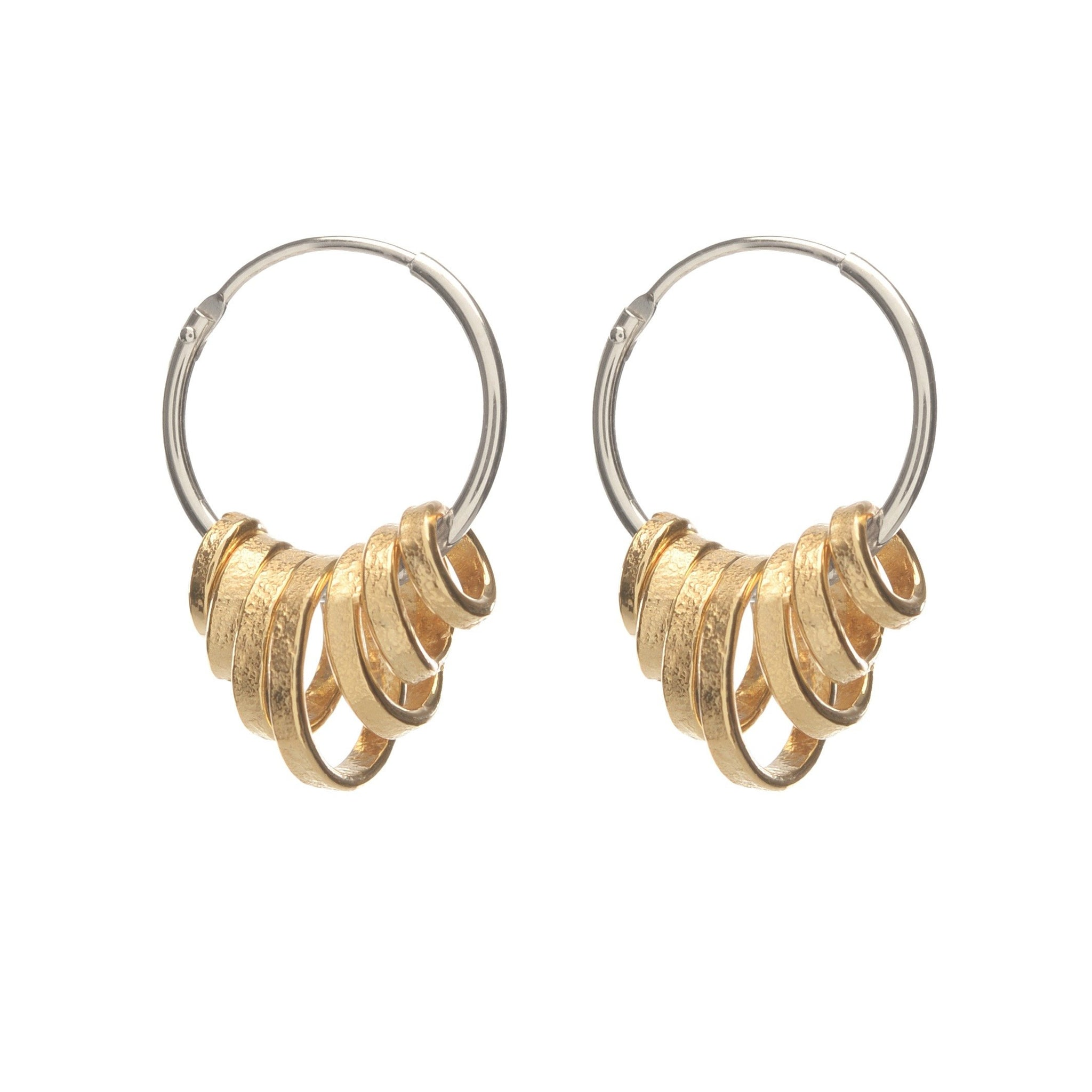 silver/gold earrings